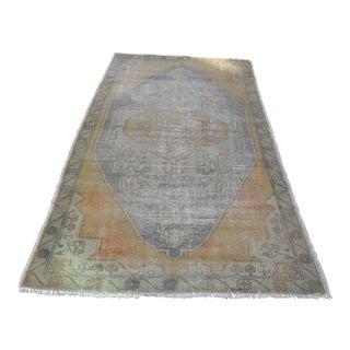 Antique Turkish Oushak Handmade Carpet - 4′4″ × 8′4″