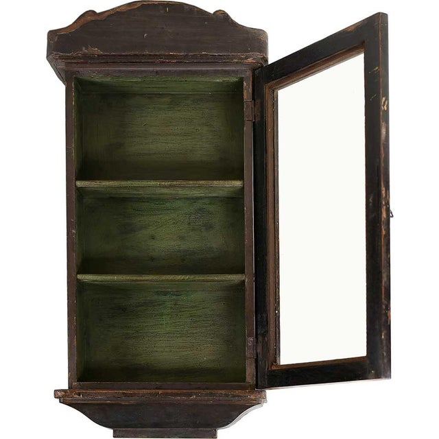 Image of Pecan Showcase Wall Cabinet