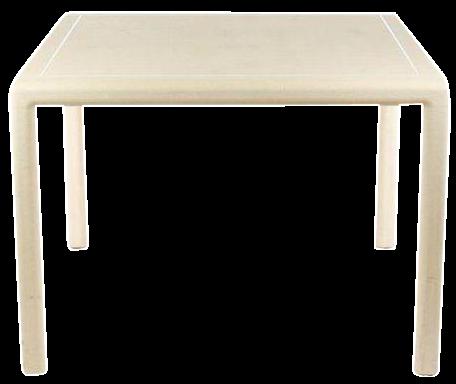 1980u0027s Karl Springer Style Game Table