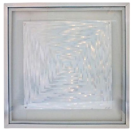 Image of Silver Foil Op Art From England