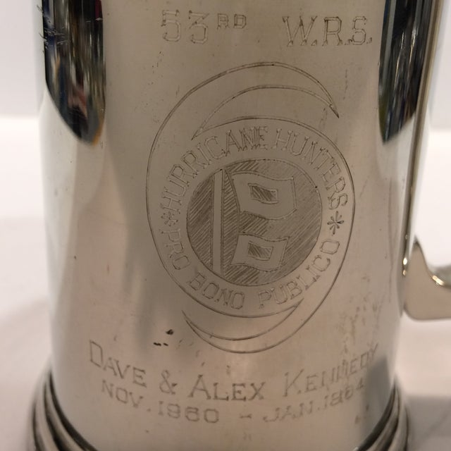 "Vintage Pewter ""53RD"" W.R.S. Hurricane Hunter Beer Stein - Image 7 of 11"