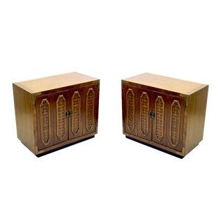 Mid-Century Walnut Cabinets - a Pair