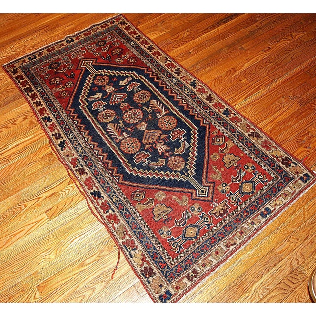 Handmade Indian Persian Rugs: 1920s Handmade Antique Persian Shiraz Rug