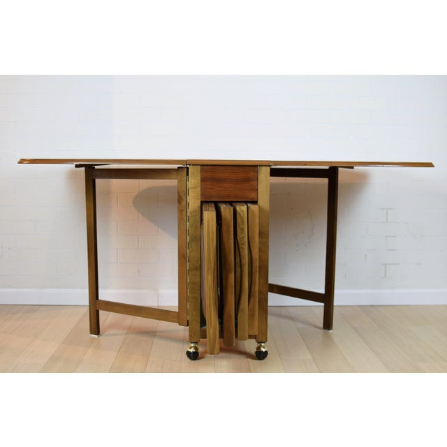 Mid-Century Danish Folding Dining Table & Chairs - Image 5 of 10