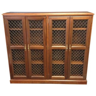 Vintage Kimball Wood Library Book Cabinet