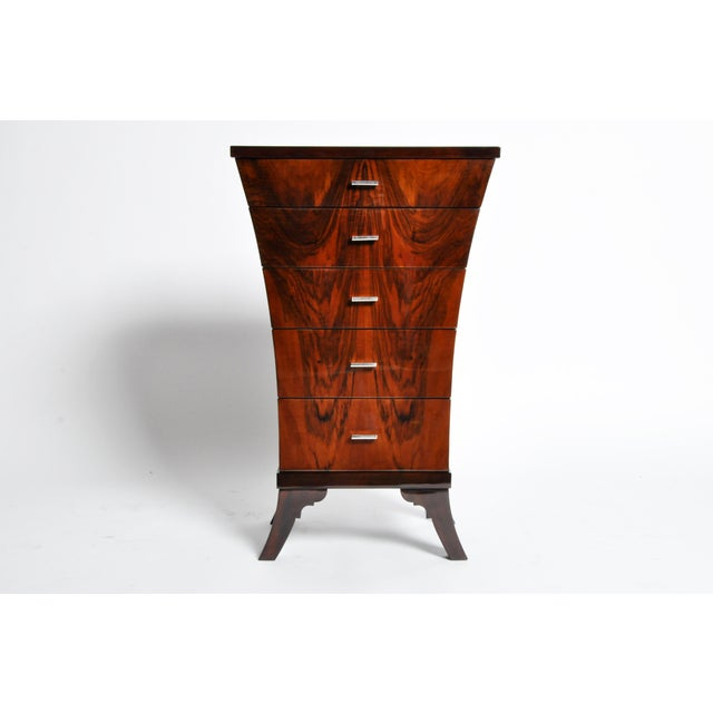 Art Deco Style Chest of Drawers with Curved Sides - Image 2 of 11