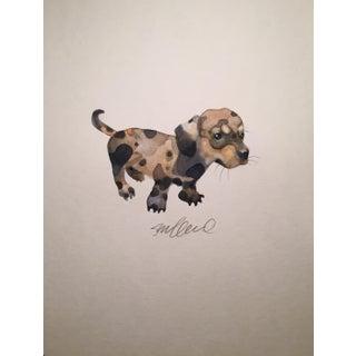 Dappled Doggie Original Watercolor