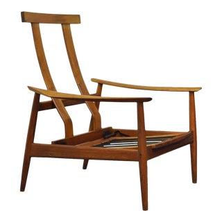 Vintage Arne Vodder Fd-164 Teak Mid-Century Danish Modern Reclining Chair