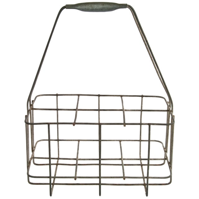 Image of Vintage French Wire Bottle Carrier