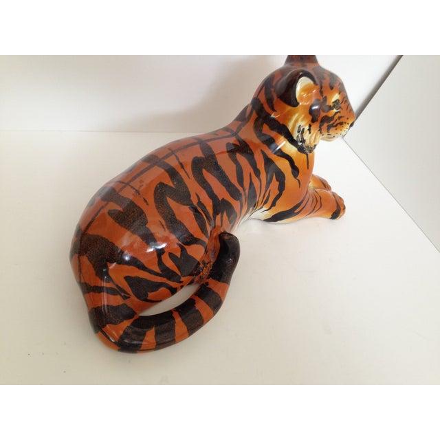 Italian Ceramic Tiger - Image 4 of 6