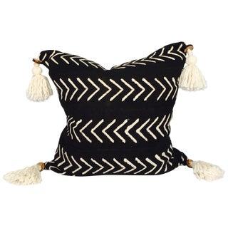 Pompom Mudcloth Pillow Cover