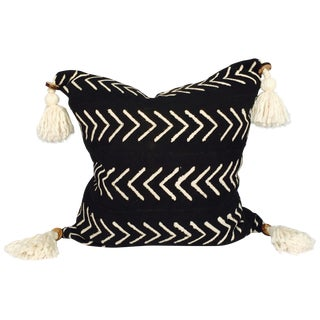 Pompom Mudcloth Pillow Cover
