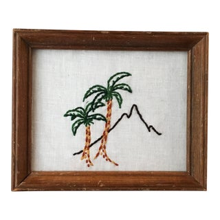 Palm Springs Oasis Embroidered Art