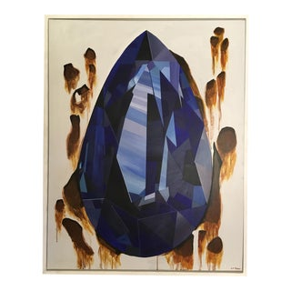 Custom Sapphire Gemstone Oil Painting by Lindsey Rose Stern