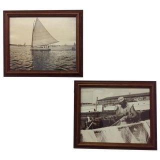 Vintage Nautical Silver Gelatin Prints - A Pair