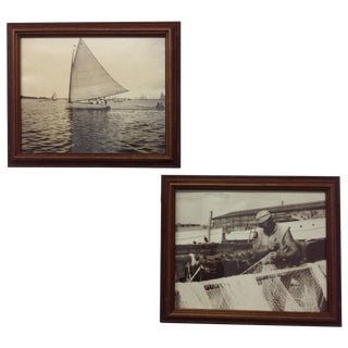 Vintage Nautical Silver Gelatin Prints - A Pair