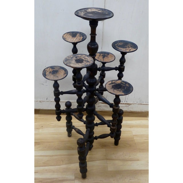 Image of Distressed English Candle Stand