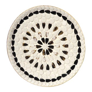 Black & White Ceramic Mosaic Tray