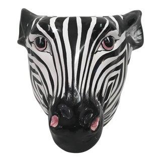 Italian Rosenthal Netter Ceramic Zebra Planter