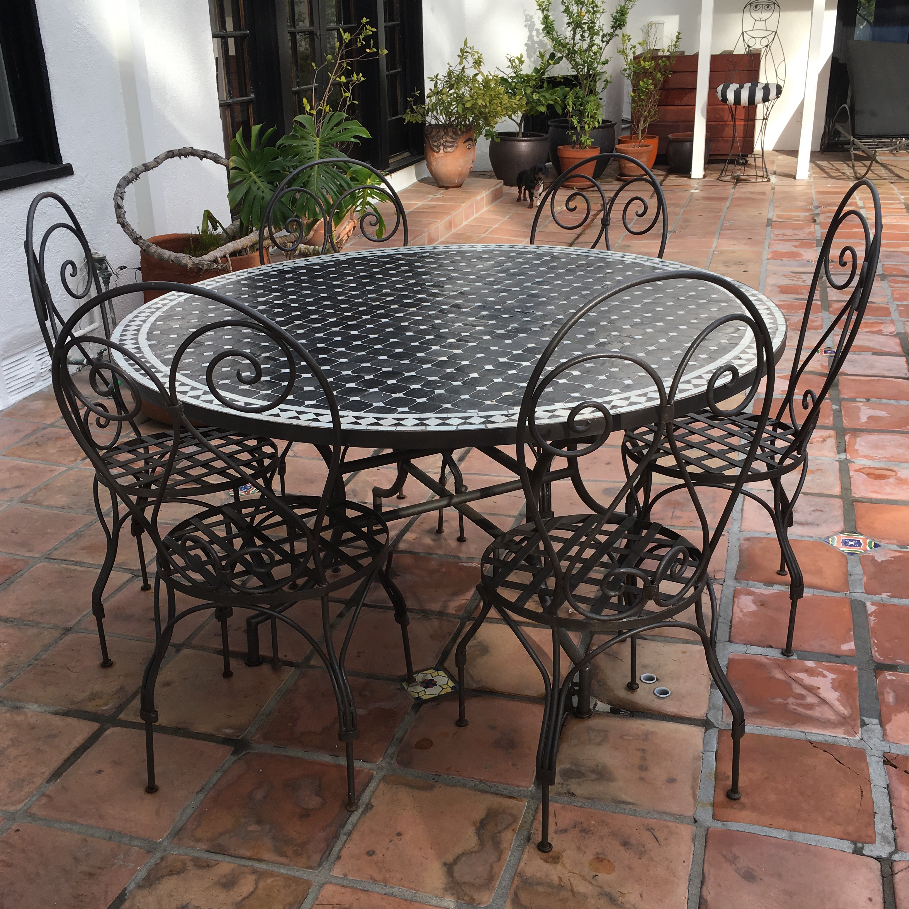 moroccan outdoor furniture. outdoor moroccan mosaic dining table image 7 of furniture