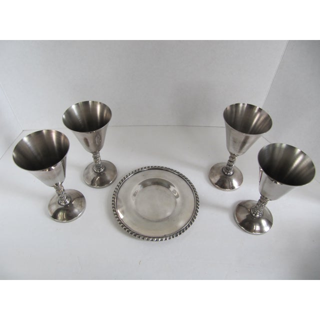 Silver-Plate Glasses/Coaster & Cheese Dome - 7 - Image 5 of 10