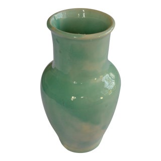 Robins Egg Blue Glazed Vase