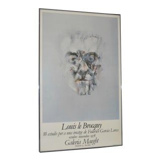 "Louis le Brocquy ""Faces of Federico Garcia Lorca"" Spanish Exhibition Poster c.1978"