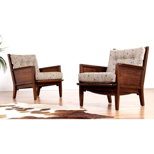Milo Baughman Perspective Chairs - Pair - Image 4 of 5