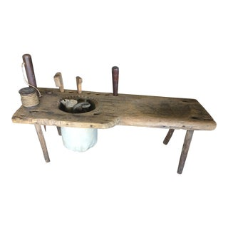 Nautical Antique Sailmakers Bench