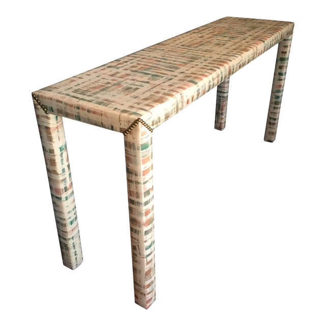 Upholstered Sofa Table - Image 1 of 11