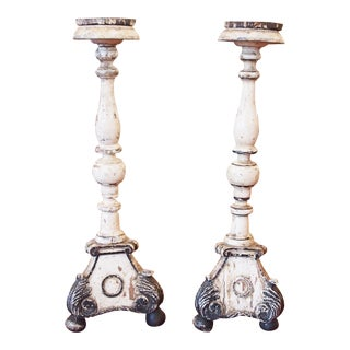Continental Polychrome Candlesticks