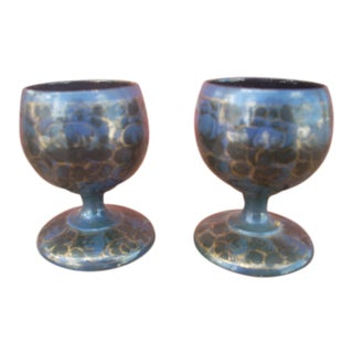 Vintage Treen Cups - A Pair