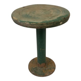 Industrial Metal & Wood Diner Stool