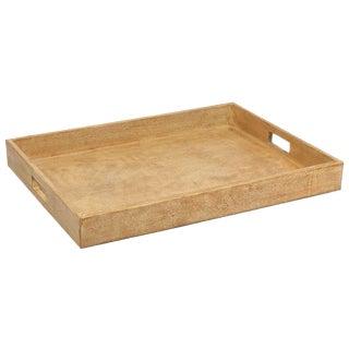 Sarreid LTD Wood & Leather Tray
