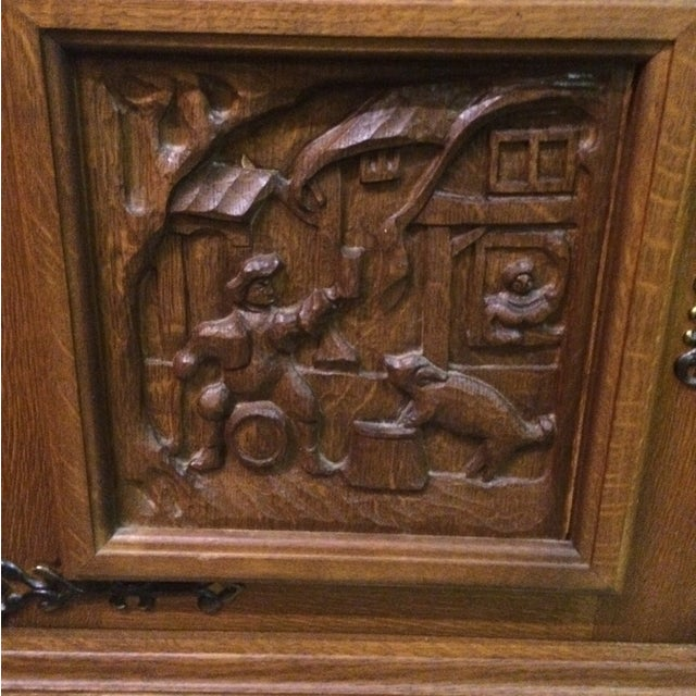 Austrian Hand-Carved Antique China Cabinet - Image 7 of 8