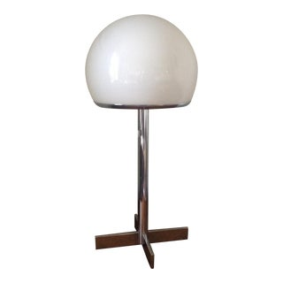 Mid-Century Chrome Globe Table Lamp