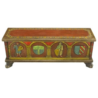 Artes De Mexico Spanish Revival Polychrome Wood Blanket Chest