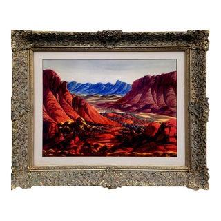 Ewald Namatjira MacDonnell Mountain Range Watercolor Painting