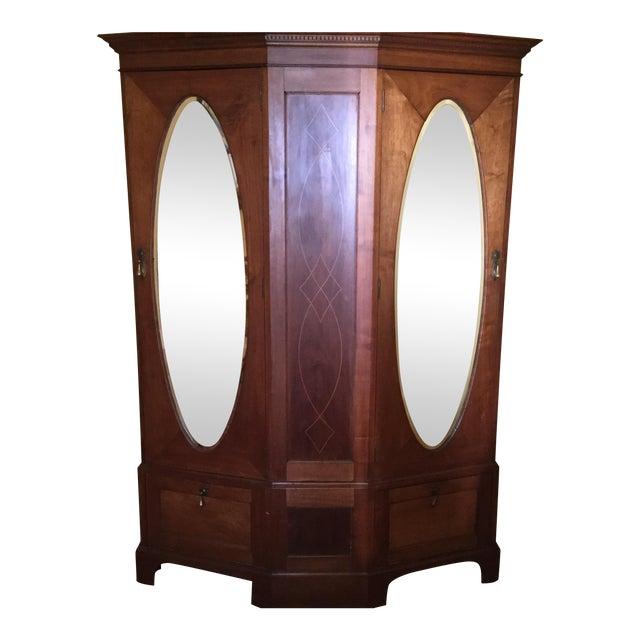 Antique English Walnut Wardrobe - Image 1 of 11