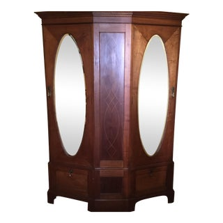 Antique English Walnut Wardrobe