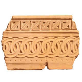 Vintage Sarreid LTD Terracotta Panel Fragment