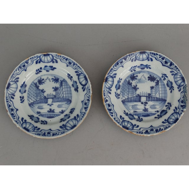 Antique Dutch Delft Chinoiserie Plates- A Pair - Image 2 of 7