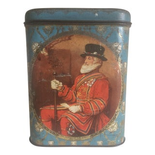 Antique Royal British Yeoman of the Guard Tea Tin Container