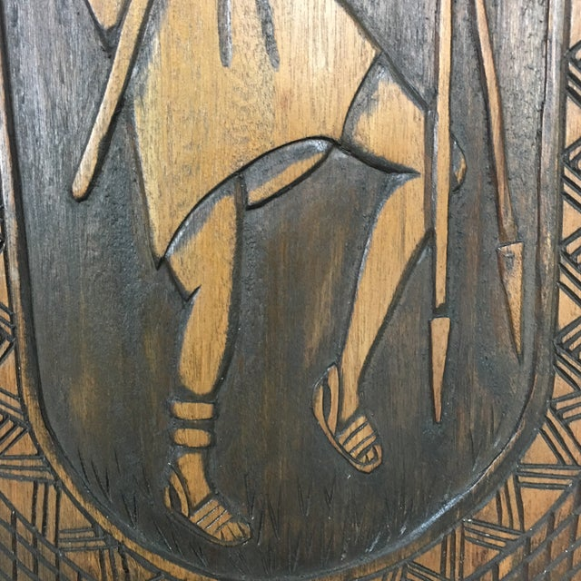 Hand Crafted Wooden African Chair - Image 6 of 9