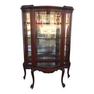 Antique Carved Display Cabinet