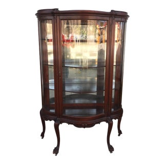Antique Carved Display Cabinet