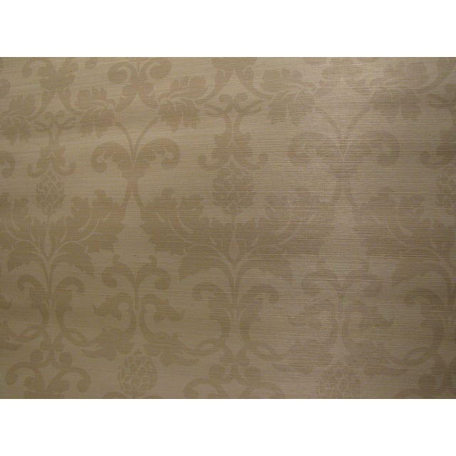 "Schumacher Grasscloth ""Beau Damasse"" Wallpaper - Image 1 of 2"