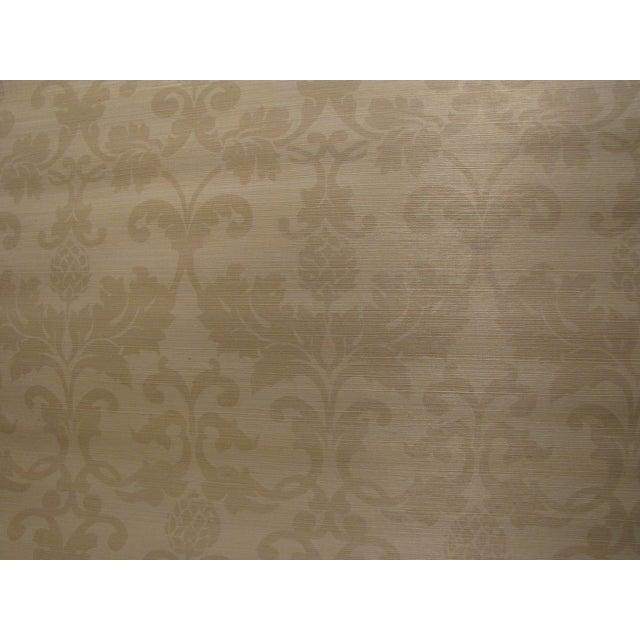 """Image of Schumacher Grasscloth """"Beau Damasse"""" Wallpaper"""