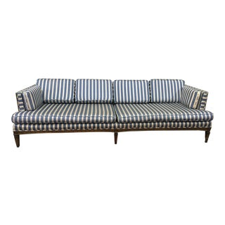 Hollywood Regency Striped Sofa
