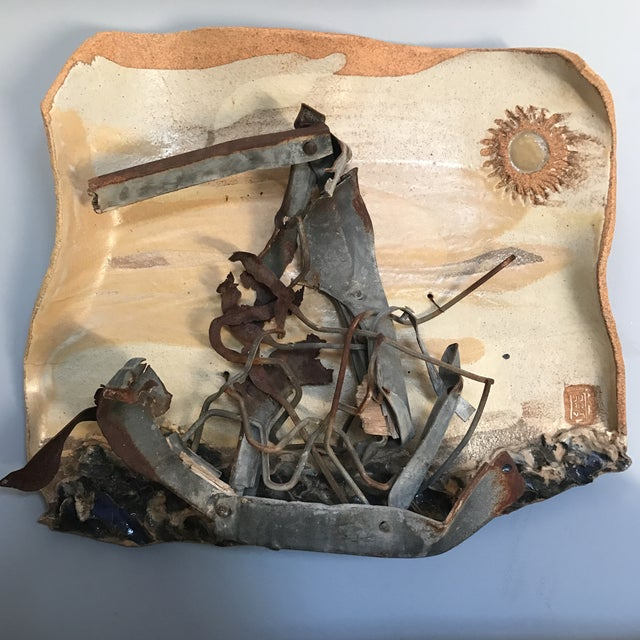 Image of Mid-Century Mixed Media Abstract Sailing Sculpture